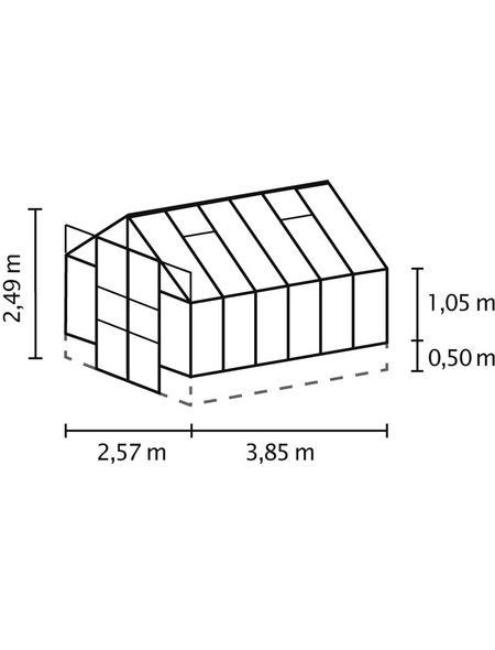 VITAVIA Gewächshaus »Cassandra«, B x L x H: 257  x 385,3  x 248,9  cm, Aluminium