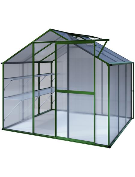 KGT Gewächshaus »Flora«, 5,16 m², Kunststoff/Aluminium, winterfest