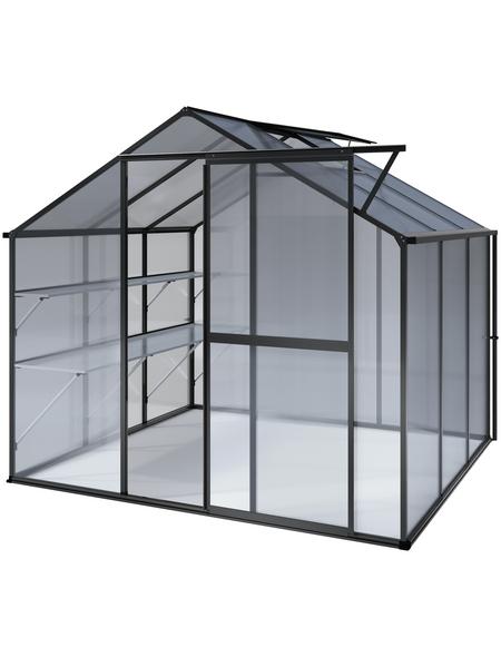 KGT Gewächshaus »Flora«, B x L x H: 227  x 227  x 204  cm, Aluminium/Polycarbonat (PC)