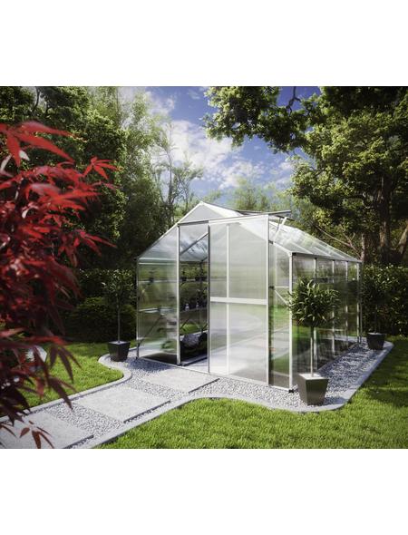 KGT Gewächshaus »Flora«, B x L x H: 227  x 301  x 204  cm, Aluminium/Polycarbonat (PC)