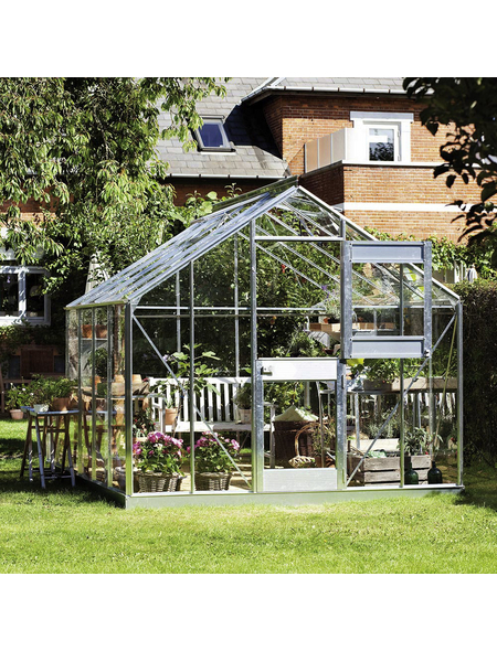 JULIANA Gewächshaus »Junior«, B x L x H: 273  x 368  x 257  cm, Aluminium/Glas