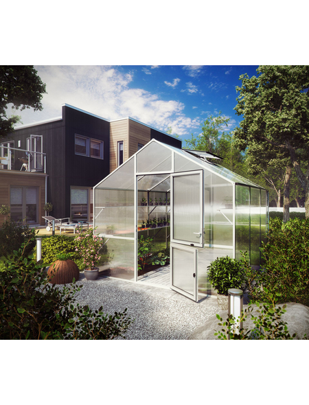 KGT Gewächshaus »Lilie«, B x L x H: 297  x 323  x 268  cm, Aluminium/Polycarbonat (PC)