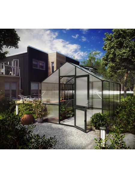 KGT Gewächshaus »Lilie«, B x L x H: 297  x 429  x 268  cm, Aluminium/Polycarbonat (PC)