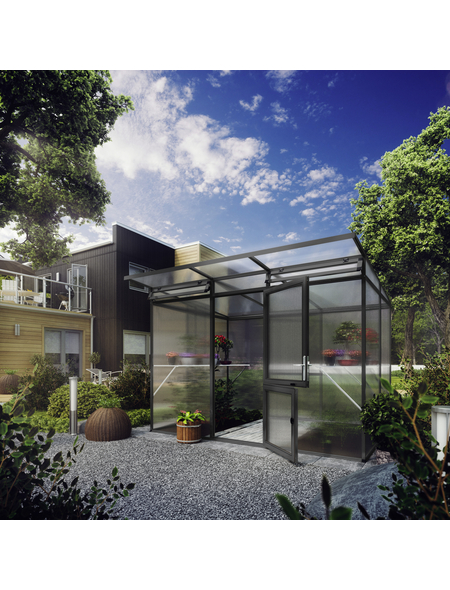 KGT Gewächshaus »Linea«, 6,45 m², Kunststoff/Aluminium, winterfest
