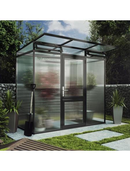 KGT Gewächshaus »Linea«, B x L x H: 233  x 110  x 220  cm, Aluminium/Polycarbonat (PC)