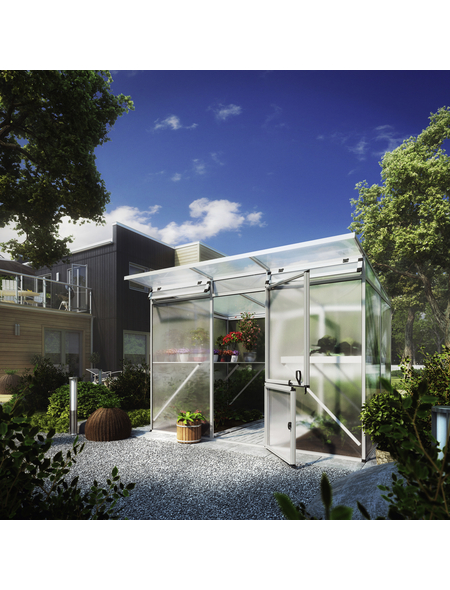 KGT Gewächshaus »Linea«, B x L x H: 297  x 220  x 220  cm, Aluminium/Polycarbonat (PC)