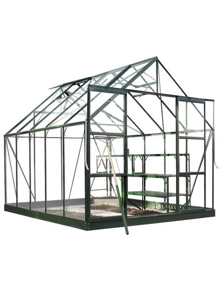 HALLS Gewächshaus »Magnum«, 8,28 m², Aluminium/Glas