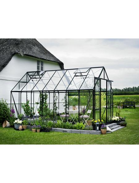 Gewächshaus »Magnum«, B x L x H: 257  x 446  x 258  cm, Aluminium/Glas