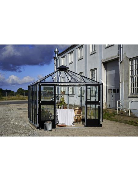 JULIANA Gewächshaus »Oase«, B x L x H: 296  x 296  x 279  cm, Aluminium