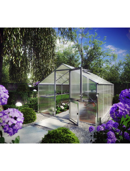 KGT Gewächshaus »Orchidee«, 12,75 m², Kunststoff/Aluminium, winterfest