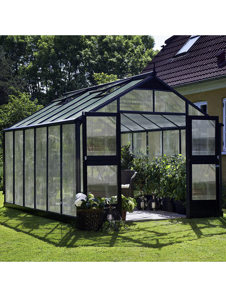 JULIANA Gewächshaus »Premium«, B x L x H: 296  x 439  x 267  cm, Aluminium/Polycarbonat (PC)
