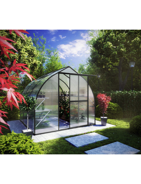 KGT Gewächshaus »Rhodo«, B x L x H: 227  x 227  x 204  cm, Aluminium/Polycarbonat (PC)