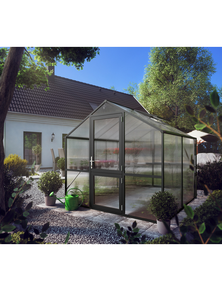 KGT Gewächshaus »Rose«, B x L x H: 233  x 217  x 215  cm, Aluminium/Polycarbonat (PC)
