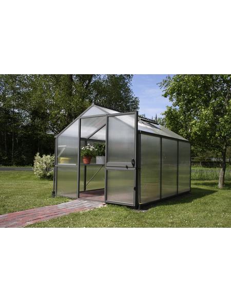 KGT Gewächshaus »Rose«, B x L x H: 233  x 429  x 215  cm, Aluminium/Polycarbonat (PC)