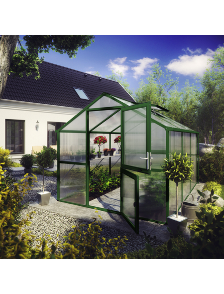 KGT Gewächshaus »Tulpe«, B x L x H: 233  x 323  x 215  cm, Aluminium/Polycarbonat (PC)