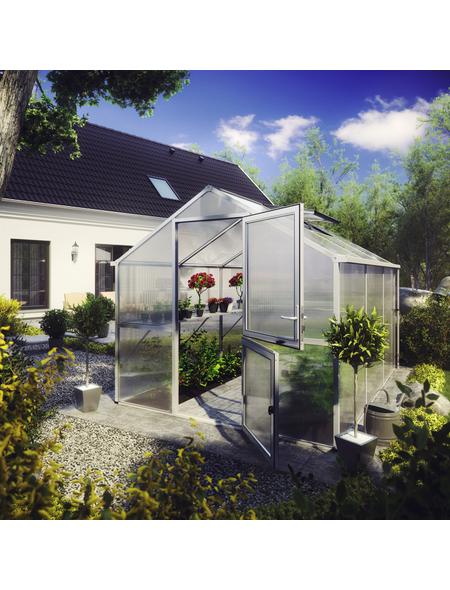 KGT Gewächshaus »Tulpe«, B x L x H: 297  x 429  x 233  cm, Aluminium/Polycarbonat (PC)