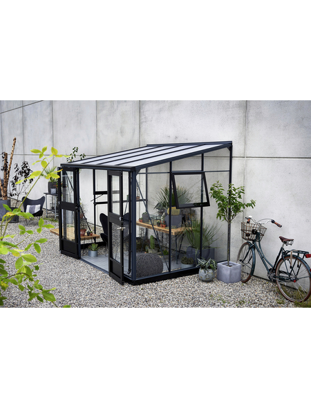 JULIANA Gewächshaus »Veranda«, B x L x H: 439  x 293  x 245  cm, Aluminium/Polycarbonat (PC)