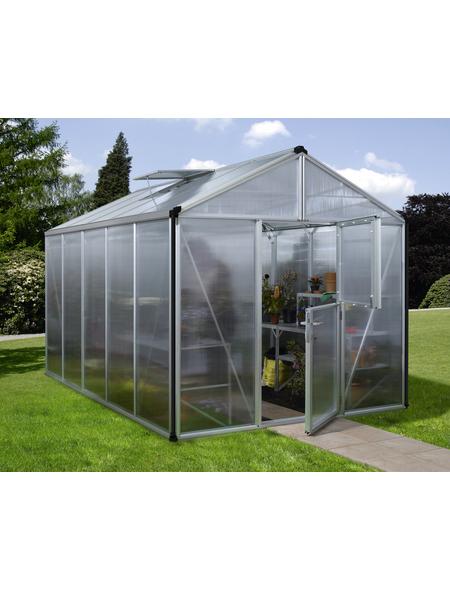 VITAVIA Gewächshaus »Zeus«, B x L x H: 258,4  x 390,8  x 250,4  cm, Aluminium/Polycarbonat (PC)