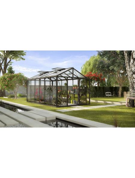 VITAVIA Gewächshaus »Zeus«, B x L x H: 258,4  x 465,2  x 250,4  cm, Aluminium/Glas