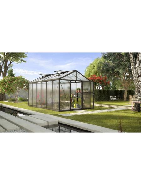 VITAVIA Gewächshaus »Zeus«, B x L x H: 258,4  x 465,2  x 250,4  cm, Aluminium/Polycarbonat (PC)