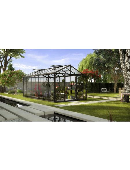 VITAVIA Gewächshaus »Zeus«, B x L x H: 258,4  x 539,6  x 250,4  cm, aluminium|glas