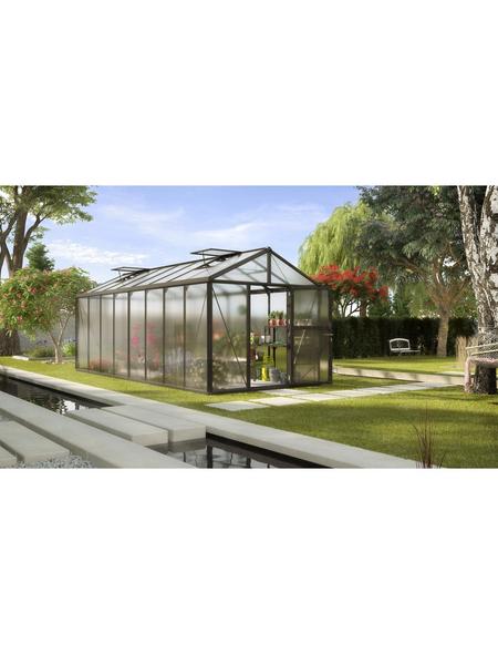 VITAVIA Gewächshaus »Zeus«, B x L x H: 258,4  x 614  x 250,4  cm, Aluminium/Polycarbonat (PC)