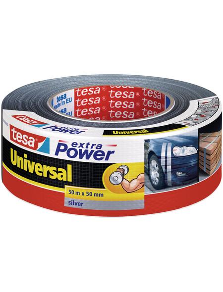 TESA Gewebeband »extra Power Universal«, Länge: 14,4 cm, silberfarben