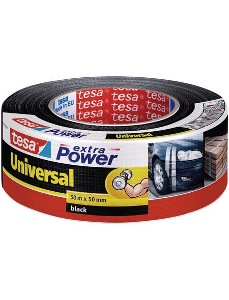 TESA Gewebeband »extra Power Universal«, schwarz, BxL: 5 x 14,4 cm