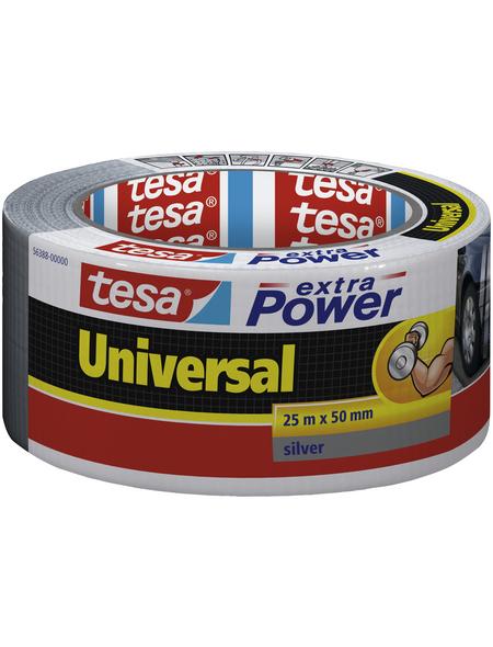 TESA Gewebeband, silberfarben, BxL: 5 x 2500 cm
