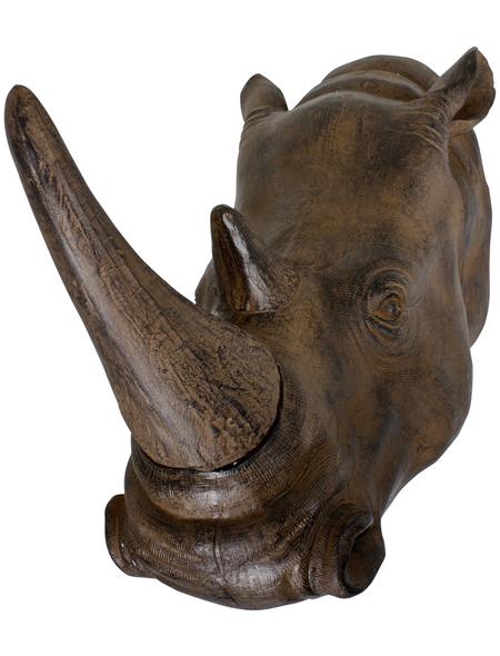 Geweih, Nashorn, Höhe: 25  cm, Polyresin, braun