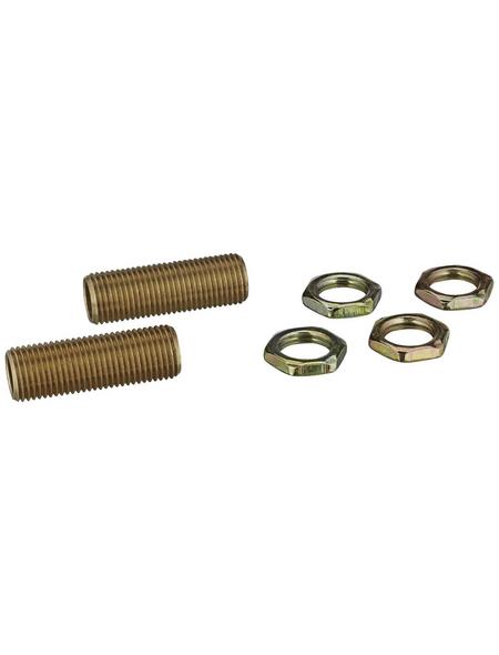 REV Gewinderöhrchen, Messing, e14/e27, goldfarben, 2 Stück