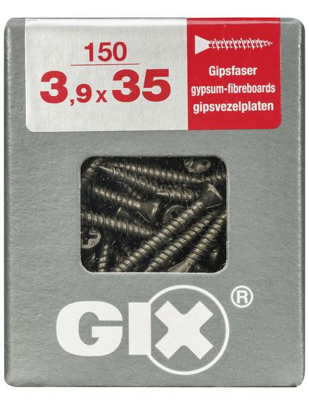 SPAX Gipsfaserschraube, 3,9 mm, Stahl, 150 Stk., GIX C 3,9x35 L