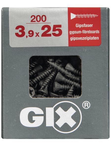 SPAX Gipsfaserschraube, 3,9 mm, Stahl, 200 Stk., GIX C 3,9x25 L