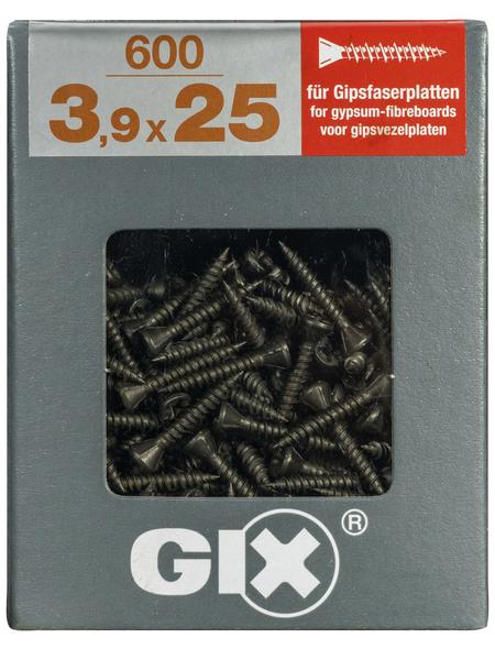 SPAX Gipsfaserschraube, GIX C, PH2, Stahl, 600 Stück, 3.9 x 25 mm