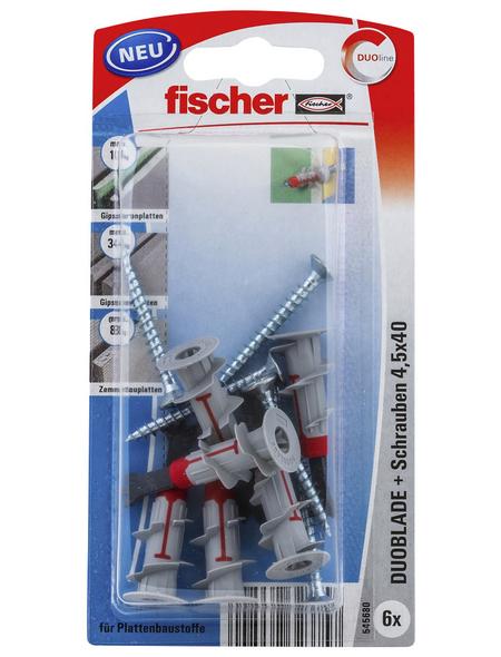 FISCHER Gipskartondübel , DUOBLADE, 6 Stück