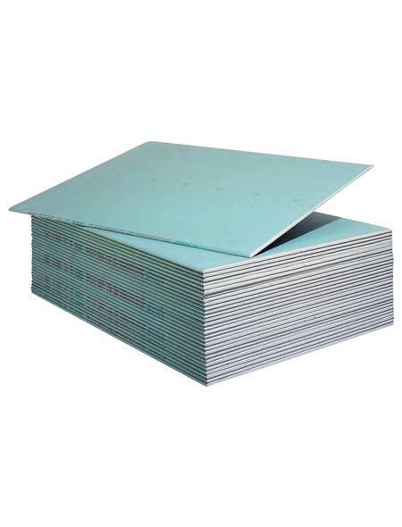 KNAUF Gipskartonplatte »Top 2000«, BxL: 900 x 1250 x 12,5 mm, grün, Imprägniert