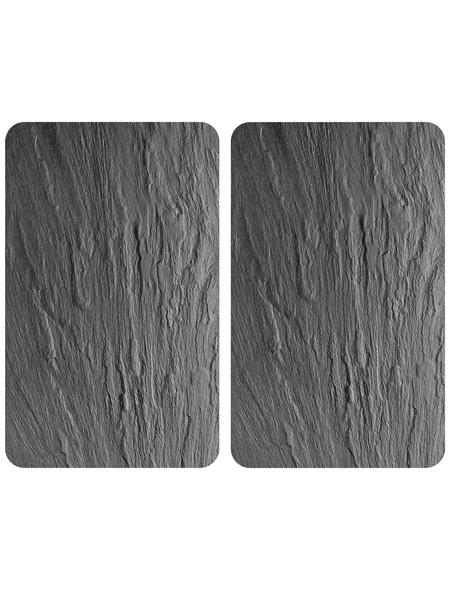 WENKO Glasabdeckplatte »Schiefer«, BxHxT: 3 x 1,8 x 52 cm, Glas/Thermoplaste, mehrfarbig