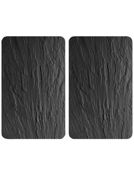 WENKO Glasabdeckplatte »Schiefer«, BxHxT: 4 x 1,8 x 52 cm, Glas/Thermoplaste, mehrfarbig