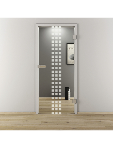 NOVADOORS Glasdrehtür »NOVA 502«, (BxH): 95,9 x : 197,2 cm