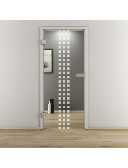 NOVADOORS Glasdrehtür »NOVA 502«, klar, Höhe: 197,2  cm