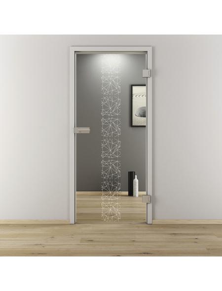 NOVADOORS Glasdrehtür »NOVA 504«, Anschlag: rechts, Höhe: 197,2 cm
