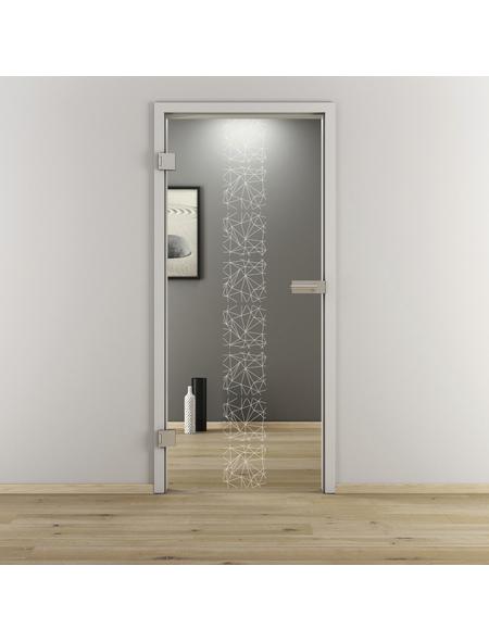 NOVADOORS Glasdrehtür »NOVA 504«, klar, Höhe: 197,2  cm