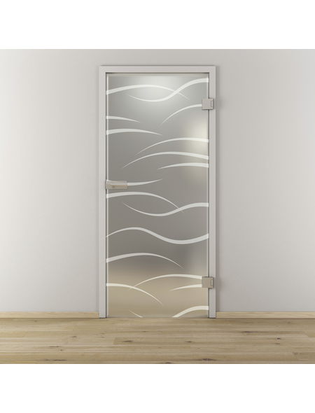 NOVADOORS Glasdrehtür »NOVA 540«, Anschlag: rechts, Höhe: 197,2 cm