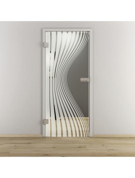 NOVADOORS Glasdrehtür »NOVA 543«, klar, Höhe: 197,2  cm