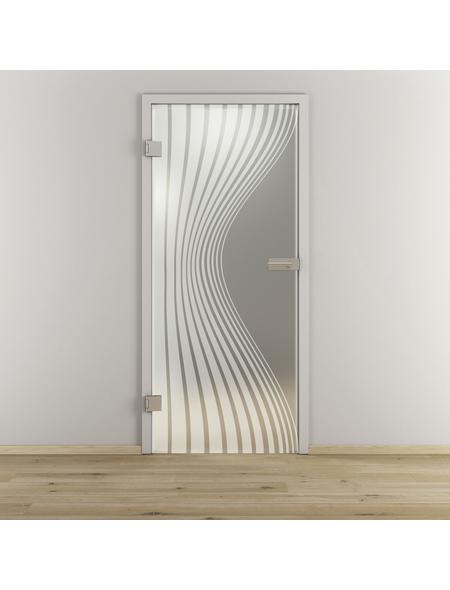 NOVADOORS Glasdrehtür »NOVA 543«, mattiert, Höhe: 197,2  cm
