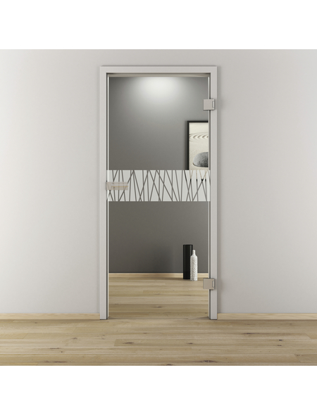 NOVADOORS Glasdrehtür »NOVA 546«, Anschlag: rechts, Höhe: 197,2 cm