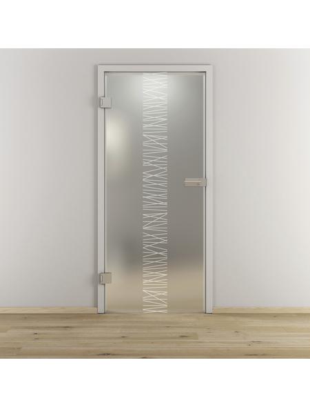 NOVADOORS Glasdrehtür »NOVA 549«, mattiert, Höhe: 197,2  cm