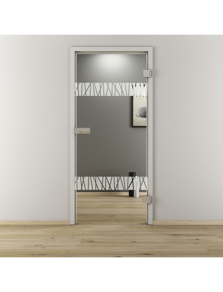 NOVADOORS Glasdrehtür »NOVA 550«, Anschlag: rechts, Höhe: 197,2 cm