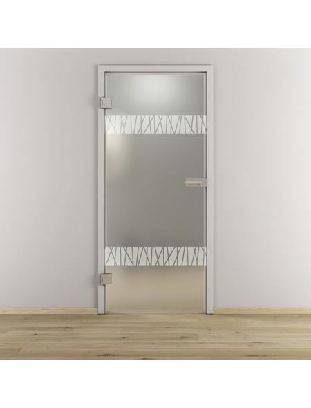 NOVADOORS Glasdrehtür »NOVA 550«, mattiert, Höhe: 197,2  cm