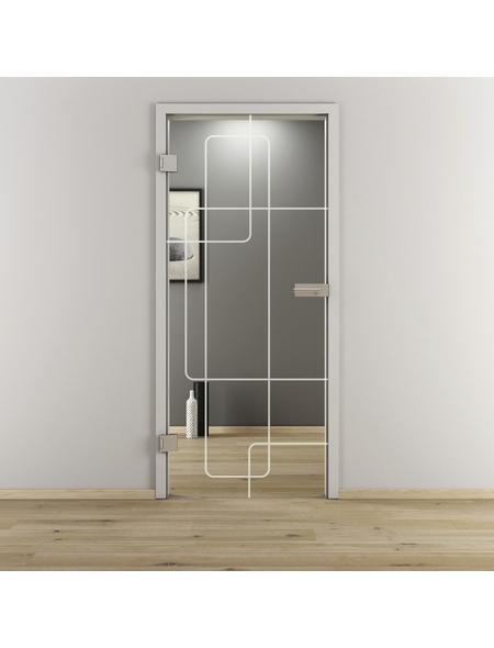 NOVADOORS Glasdrehtür »NOVA 553«, Anschlag: links, Höhe: 197,2 cm